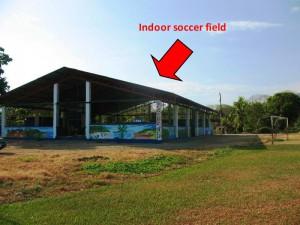 Indoor soccer field near Uvita surf school